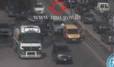 تصادم بين 3 مركبات على اوتوستراد الرئيس لحود باتجاه الصياد