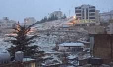 النشرة: تساقط الثلوج في البقاع الغربي وبعلبك على ارتفاع 900 م