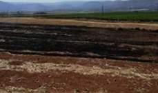 إخماد حريق داخل منزل في الحفة وحريق حصيد في خراج كفريا