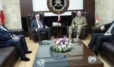 قائد الجيش التقى الدويهي على رأس وفد وجرى البحث بالأوضاع العامة في البلاد