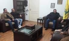 مسؤول منطقة صيدا بحزب الله إستقبل لجنة حي الطيرة بمخيم عين الحلوة