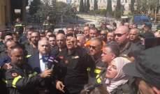 أبو الحسن في اعتصام الدفاع المدني: أنصفوا هؤلاء الشجعان