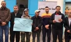 اعتصام للجنة معاناة المهجرين الفلسطينيين من سوريا للبنان بعين الحلوة