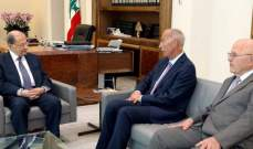 الرئيس عون استقبل النائب السابق الهاشم ونقيب صناعيي المواد الغذائية سامي خوري