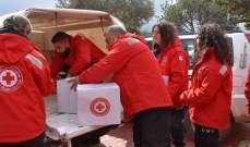 النشرة: الصليب الأحمر وزع مساعدات على المرضى بمستشفى الفنار