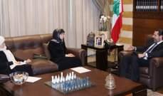الحريري التقى عز الدين ووفدا من برنامج الاغذية العالمي