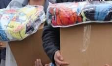 المركز الوطني للتنمية والتأهيل وزع 500 حصة غذائية على النازحين بالشوف