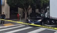 إصابة 7 أشخاص بحادث اصطدام شاحنة مشاة وسيارة في سان فرانسيسكو