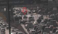التحكم المروري: حادث تصادم بين  مركبتين على أوتوستراد الدورة