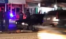 النشرة: حادث سير بين سيارتين على طريق دير الزهراني والاضرار مادية