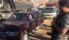 الأمن العام: تأمين العودة الطوعية لـ 377 نازحاً سورياً من مخيمات عرسال