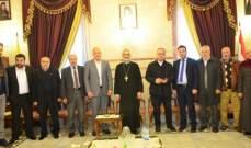 وفد من قيادة الجماعة الإسلامية الجديدة في جبل لبنان يجول على الأديرة في الإقليم مهنئا بالفصح