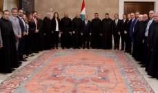 الرئيس عون إستقبل وفدا من الجامعة الأنطونية برئاسة الأب جلخ