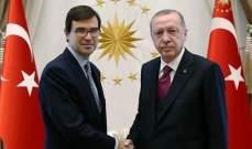 اردوغان تسلّم أوراق اعتماد سفيري جورجيا وإسبانيا في تركيا