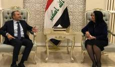 باسيل وصل الى بغداد واستقبله نظيره العراقي وسفير لبنان
