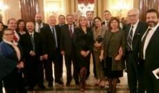 حفل استقبال في السفارة اللبنانية في الفاتيكان لمناسبة الاستقلال