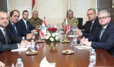بو صعب عرض الأوضاع مع وزير الأمن القومي البولندي وسفير ايطاليا