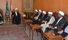 قبلان التقى بعثة المجلس الإسلامي الشيعي الأعلى الى الحج