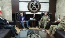 قائد الجيش بحث في الاوضاع العامة مع النائبين ابو فاعور وسعادة