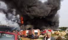 الدفاع المدني: عمليات الإطفاء في مبنى المكلس ما زالت مستمرة