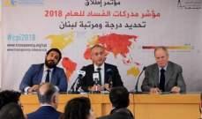 لا فساد: لبنان يحتل المرتبة 138/180 بحسب مؤشر مدركات الفساد لعام 2018