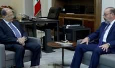 الرئيس عون التقى أبو زيد والصراف ووفدا من المجلس البلدي في عنايا