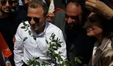 باسيل غرس شجرة زيتون في شعت بحضور مرشحة التيار غادة عساف