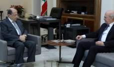 الرئيس عون عرض مع القاضي سمير حمود عدداً من الشؤون القضائية