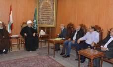 الشيخ قبلان التقى وفدا من لجنة المهجرين في منطقة المدور الكرنتينا