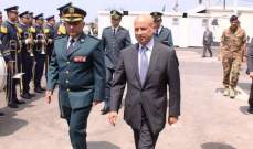 ماروتي:إيطاليا تقدر جهود الجيش بحفظ أمن لبنان وتعتزم مواصلة التعاون العسكري