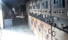 النشرة: اندلاع حريق فيمحطة تحويل الكهرباء في النبطية