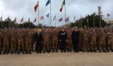 رئيس حكومة إيطاليا تفقد كتيبة بلاده: ايطاليا ملتزمة بلبنان