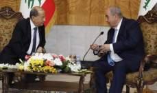 الرئيس عون بعد لقائه علاوي: صداقة لبنان والعراق سبقت المصالح