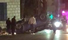 الدفاع المدني: جريحان جراء انقلاب سيارتهما على طريق عام جعيتا- كسروان
