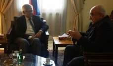 حمدان اكد بعد لقائه زاسبيكين أهمية الدور الروسي وجديته في حل الأزمة السورية