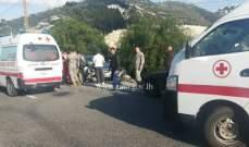 تصادم بين سيارتين بعد نفق شكا باتجاه طرابلس - المسلك الشرقي والاضرار مادية