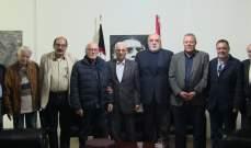 حمدان استقبل وفداً مصرياً ناصراً من الجمعية العربية للعلوم