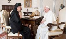 الراعي التقى البابا فرنسيس وشكره على دعمه للبنان