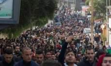 رويترز: احتجاجات اليوم بالجزائر هي الأكبر منذ بدء المظاهرات الشهر الماضي