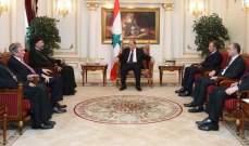 الرئيس عون استقبل مطران بغداد والكويت غطاس هزيم في قصر البيان