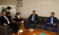 داوود تلقى دعوة من الجابري لزيارة العراق لافتتاح الأسبوع الثقافي اللبناني