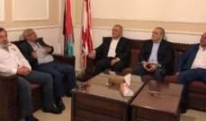 سعد بحث مع وفد من البعث الأوضاع العامة في لبنان على مختلف الصعد