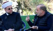وفد من اللقاء الاسلامي الوطني برئاسة عبد الرزاق زار الصراف