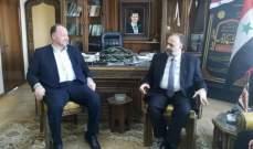 مدير الداخلية في الحزب الديمقراطي زار وزير الأوقاف السوري موفداً من أرسلان