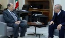 الرئيس عون استقبل عبد الهادي محفوظ وعرض معه شؤوناً عامة