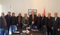 رئيس تجمع صناعيي الشويفات وجوارها بحث مع رئيس بلدية شويفات القضايا التنموية