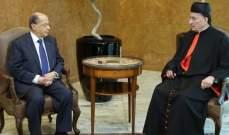 مصدر للحياة: الرئيس عون أبلغ الراعي اصراره على حصة وازنة له بالحكومة