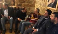 أرسلان التقى وفوداً مناطقية وكلّف الغريب متابعة الإنهيار الحاصل في عرمون