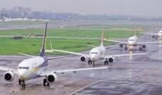 سلطات الهند تستأنف حركة الطيران في 9 من مطاراتها بعد إغلاق 3 ساعات