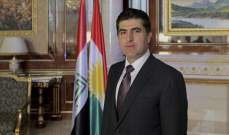 بارزاني يؤكد ضرورة التنسيق مع بغداد والتحالف لمواجهة أي تهديد